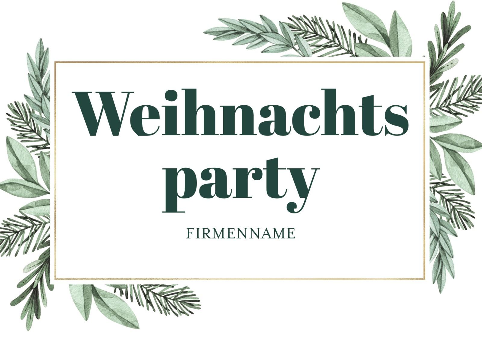 einladungskarten zur weihnachtsfeier ihres unternehmens