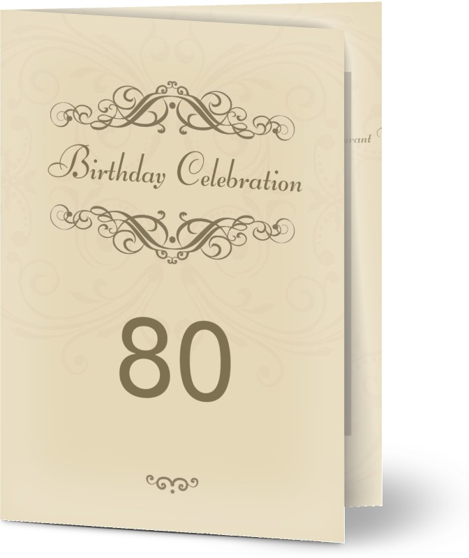 See All Classic And Elegant Customized 80th Birthday Invitations
